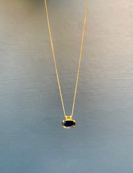 Lisa Black Jewellery - Lavender Rose Cut Tourmaine on 22ct Gold Chain - Handmade in Australia