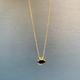 Lisa Black Jewellery - Lavender Rose Cut Tourmaine on 22ct Gold Chain - Handmade in Australia
