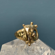 Sensational Vintage Brutalist Ring - Brass c1970 - USA