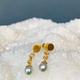 Lisa Black Jewellery - Petite Vermeer  Earrings - Fine Natural Pearl with 22ct Gold - Handmade in Australia
