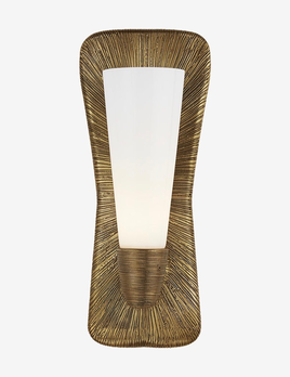 Kelly Wearstler Kelly Wearstler - Utopia Large Single Bath Sconce in Gild with White Glass