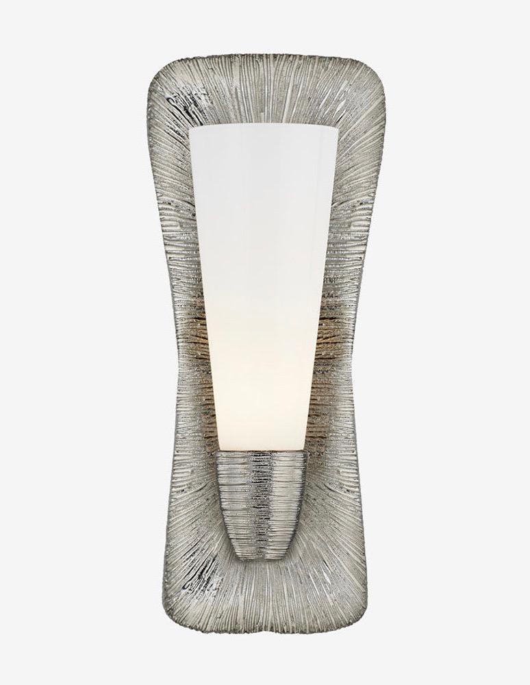 Kelly Wearstler Kelly Wearstler - Utopia Large Single Bath Sconce in Gild with White Glass