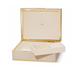 Aerin AERIN - Classic Large Croc Jewellery Box - Italian Embossed Leather - Fawn - 32x25.4x16cm