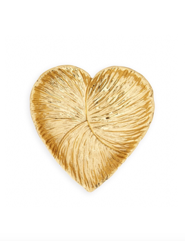 AERIN - Large Floral Heart Dish - 16.5x4cm - Brass