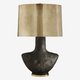 Kelly Wearstler Kelly Wearstler - Armato Table Lamp - Black Ceramic with Oval Antique Burnished Brass Shade