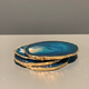 Nativa Gems Agate Coasters with Gold Plated Edge - Teal - Set of 4