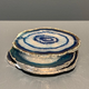 Nativa Gems Agate Coasters with Silver Plated Edge - Blue - Set of 4