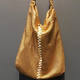 Laura B LAURA B - New Basic Party Bag - Gold Mesh with Adjustable Strap - Handmade in Spain