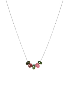 Olly & Rose - 5 Stone Tourmaline and 14ct White Gold Necklace - Australia