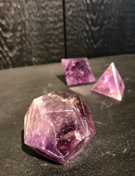 Medium Amethyst Dodechahedron - 12 sided - 4-5cm