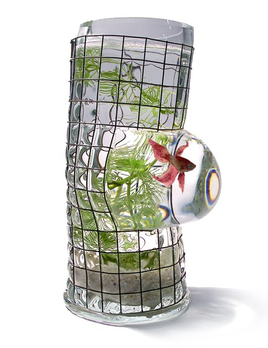 Vanessa Mitrani Creations Vanessa Mitrani - Aquarius Collection - SIMPLE Aquarium/Fish Tank or Vase - 25cm H - France