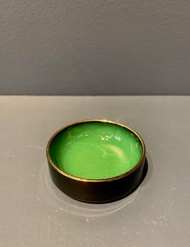 Vintage Green Carltonware Ceramic Dish D7.5cm
