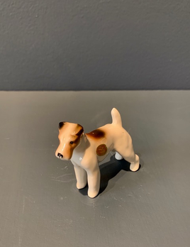 Vintage Ceramic Terrier -  - H5cm approx
