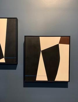 Tara Schyer - 'Lean Into…' 2019 - Acrylic on Canvas - 53x53cm Framed
