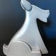 fdc FDC - Fox / Dog - Crackle Glaze Ceramic - Blue - H34cm
