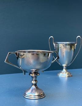 Vintage Sterling Silver Trophy Cup - Art Deco - Birmingham 1937