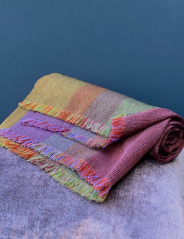 Brigitte Leclercq Brigitte Leclercq - 100% Wool Hand Loomed Scarf - Made in Belgium - Multi Colour - 74cmx220cm