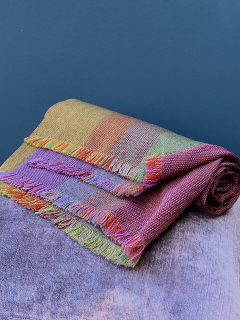 Brigitte Leclercq Brigitte Leclercq - 100% Wool Hand Loomed Scarf - Made in Belgium - Multi Colour - 74cmx220cm