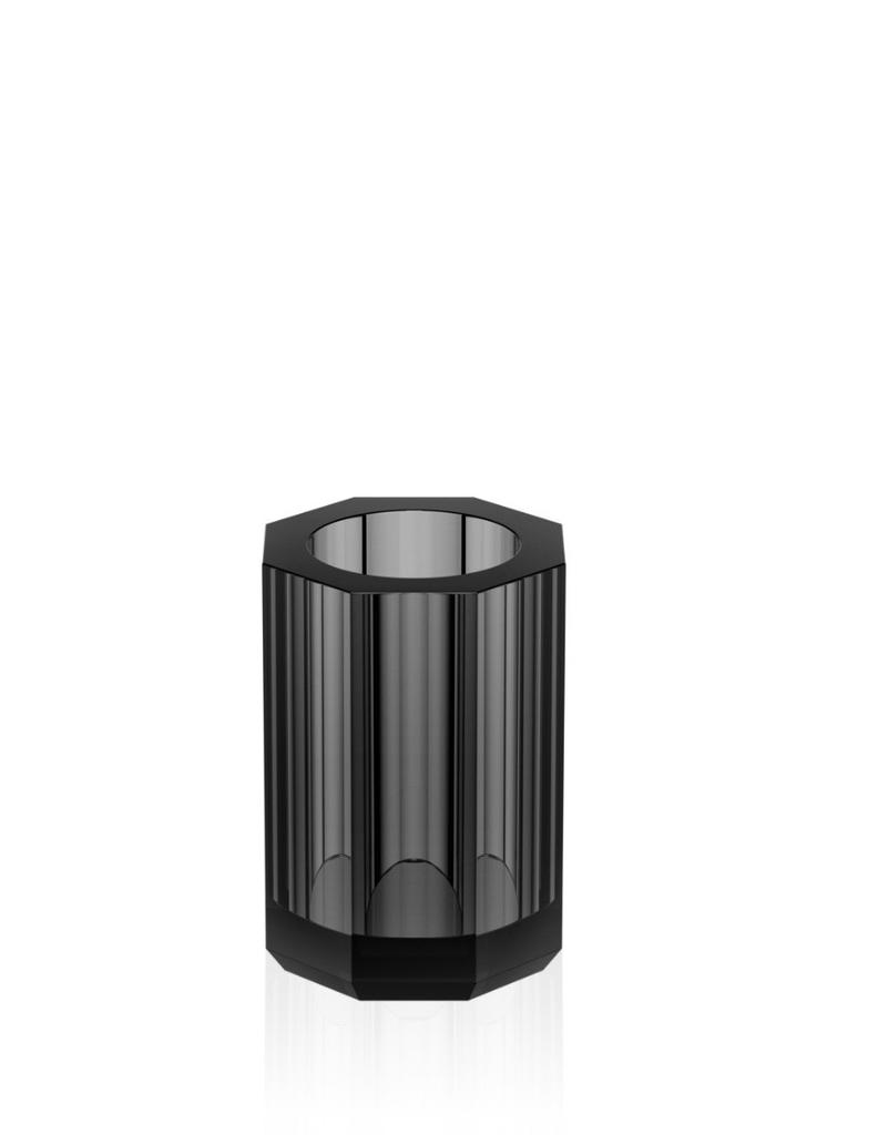 DW - Crystal Bathroom Accessories - Tumbler - Anthracite - 10x7x7cm - Germany