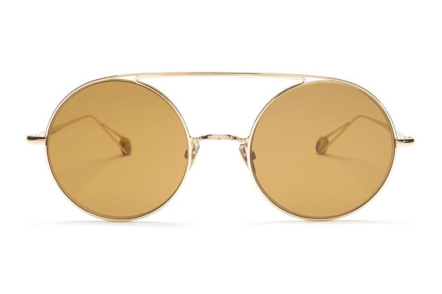 Proper Goods Ahlem Eyewear - D'Acadie - Champagne - Christian Dalloz Cridal 2 Base Lenses with an interior anti-reflective coating - Gold Plated - Handmade in France