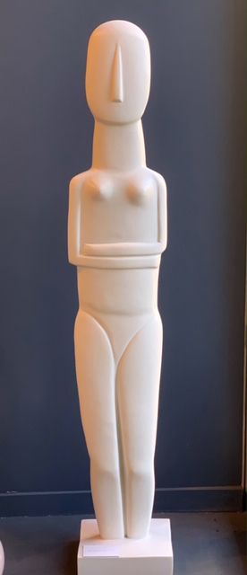Statue Of Woman Cycladic Collection - Mercer and Lewis -Greece