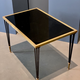 Vintage Black Iron, Brass and Glass Side Table - c1950 (sourced France) - W61cm x D38.5 x H41cm