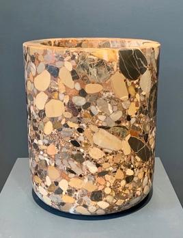 Michael Verheyden Michael Verheyden - Busk Vase - Breccia Alba Marble - 39x24cm - Belgium