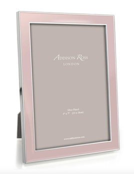 Addison Ross Addison Ross - Enamel Photo Frame - 5x7 - Lightpink/Silver
