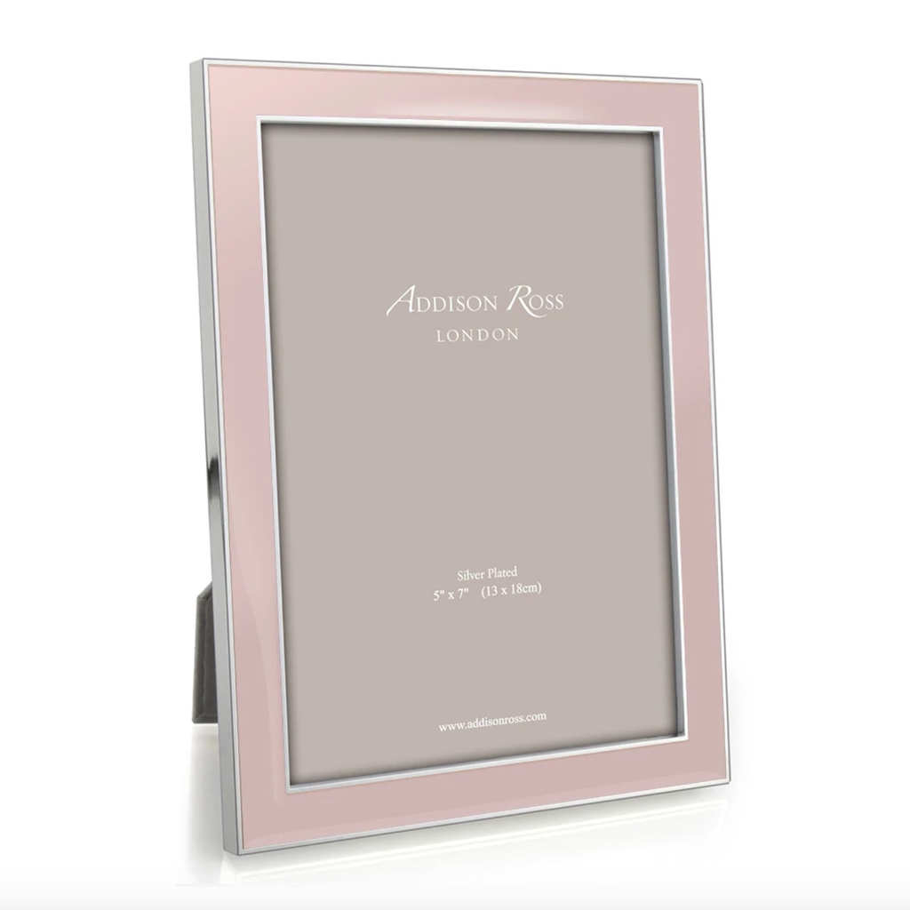 Addison Ross Addison Ross - Enamel Photo Frame - 5x7 - Lightpink/Silver