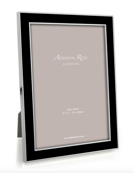Addison Ross Addison Ross - Enamel Photo Frame - 5x7 - Black/Silver