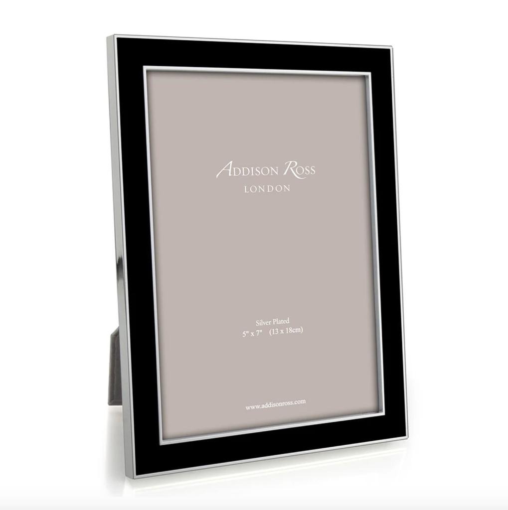 Addison Ross Addison Ross - Enamel Photo Frame - 5x7 - Black/Silver