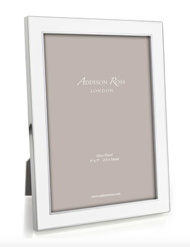 Addison Ross Addison Ross - Enamel Photo Frame - 5x7 - White/Silver