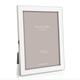 Addison Ross Addison Ross - Enamel Photo Frame - 5x7 - White/Silver