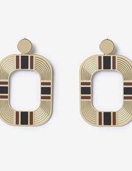 Chic Alorsi Chic Alorsi - Bettina Earrings - 24ct Gold Plated with Enamel - Paris