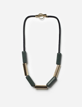 Chic Alorsi Chic Alorsi - Bonga Necklace - Green Resin with 24ct Gold Plated Brass - Paris
