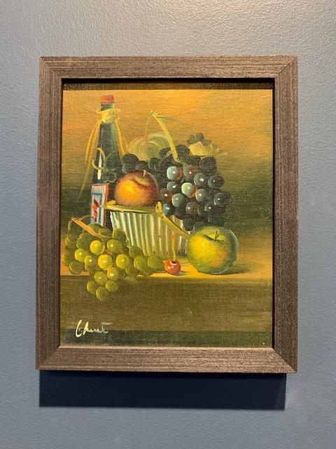Vintage Artwork - Still Life H29.5xW24cm - c1970