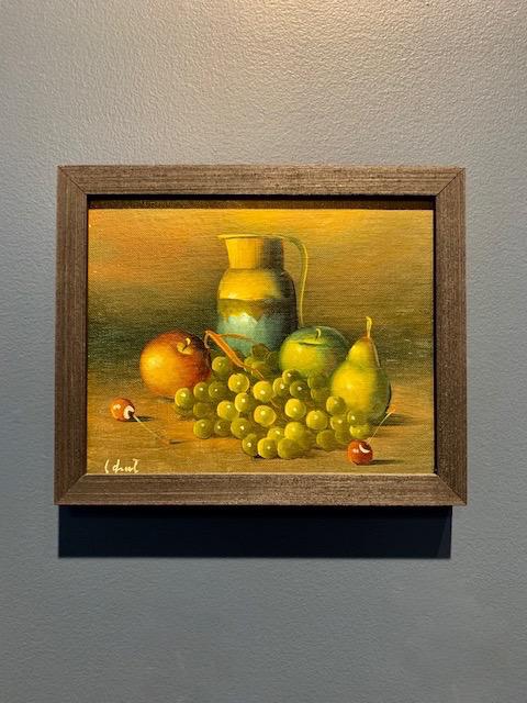 Vintage Artwork - Still Life - H24xW29.5cm - c1970