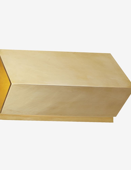 Kelly Wearstler Kelly Wearstler - Esker Small Triangle Sconce in Antique-Burnished Brass