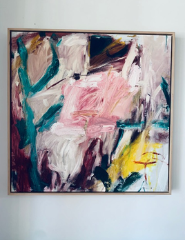 Finding Words 2019 - Antonia Mrljak - Acrylic on Canvas - 80.5x80.5cm Framed