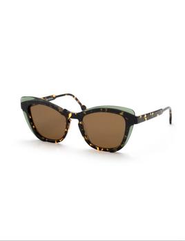 Proper Goods Res / Rei Sunglasses - Turandot Occhiale - Green/Dark Havana - Acetate - Handmade in Italy
