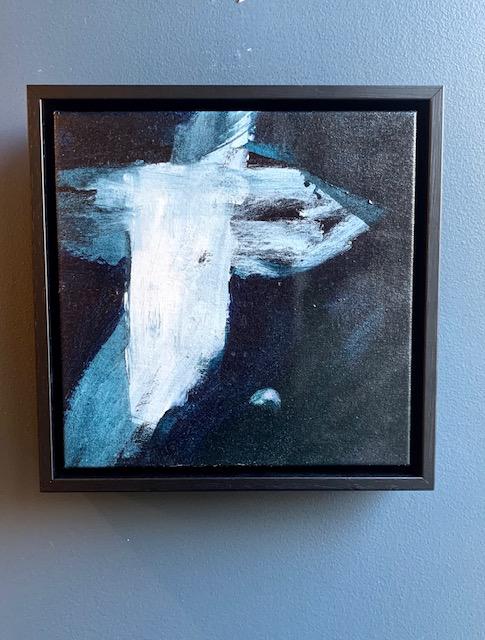 The View is Very Nice 2019 - Antonia Mrljak - Acrylic on Canvas - 28.5x28.5cm Framed