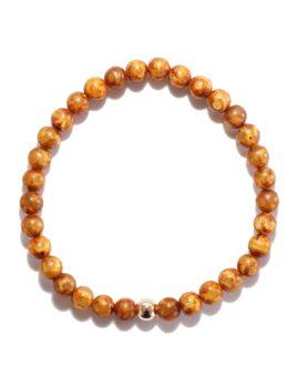 Spiritus Stones - Bracelet with Tan Tibetan Agate & 14ct Gold