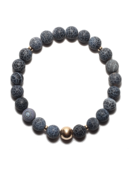 Spiritus Stones - Hero's Journey Bracelet with Grey Fire Agate & 14ct Gold
