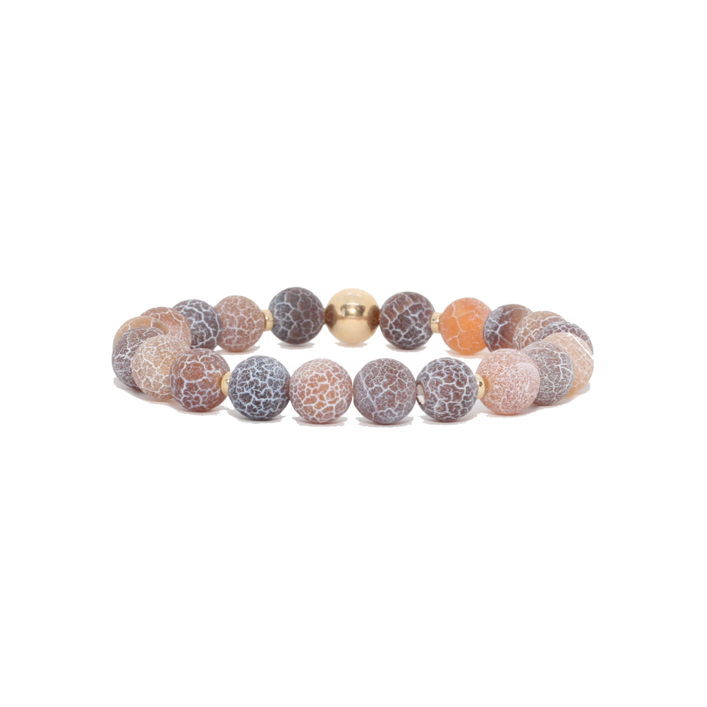 Spiritus Stones - Hero's Journey Bracelet with Natural Fire Agate & 14ct Gold