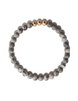 Spiritus Stones - Power Bracelet with Map Jasper & 14ct Gold