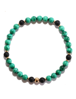 Spiritus Stones - Transformation Bracelet with Malachite, Onyx & 14ct Gold