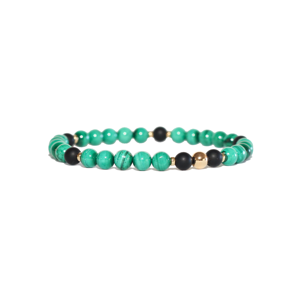 Spiritus Stones - Transformation Bracelet with Malachite, Onyx & 14ct Gold
