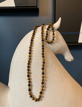 Spiritus Stones - Mala Necklace Tigers Eye, Onyx  & 14ct Gold