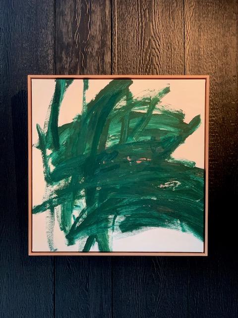 Feet on the Ground, Head in the Sky 2019 by Antonia Mrljak - Oil & Acrylic  - 60x60cm Framed