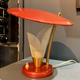 BECKER MINTY Vintage Red Anodised Atomic Age TV Lamp